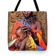 Maasai Grandmother And Child Tote Bag