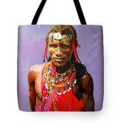 Maasai Moran Tote Bag