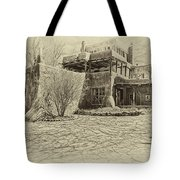 Mabel's House As Antique Print Tote Bag