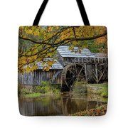Mabry Mill In Fall 3 Tote Bag