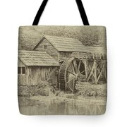 Mabry Mill In Sepia Tote Bag by Ola Allen
