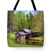 Mabry Mill In The Springtime On The Blue Ridge Parkway  Tote Bag by Kerri Farley