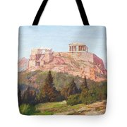 Macco, Georg 1863 Aachen - 1933   The Acropolis Of Athens. Tote Bag