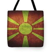 Macedonia Distressed Flag Dehner Tote Bag