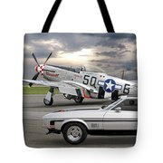 Mach 1 Mustang With P51  Tote Bag