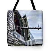 Machine Gun Wwii Aircraft Color Tote Bag