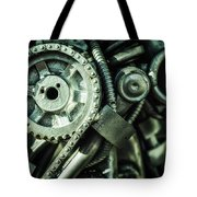 Machine Part Bnw Abstract II Tote Bag