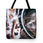 Machine Speed Warp In Blur Tote Bag