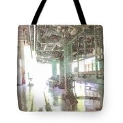 Machinery In A Factory Tote Bag