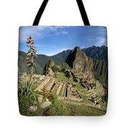 Machu Picchu And Bromeliad Tote Bag