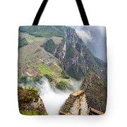 Machu Picchu And Fog Tote Bag