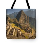 Machu Picchu At Dawn Near Cuzco Peru Tote Bag