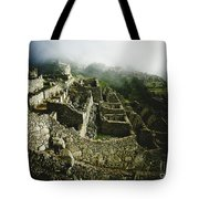 Machu Picchu In The Fog Tote Bag