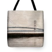 Mackinac Bridge Grunge Tote Bag