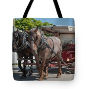 Mackinac Island Horse Carriage Tote Bag