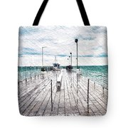 Mackinac Island Michigan Shuttle Pier Pa 02 Tote Bag