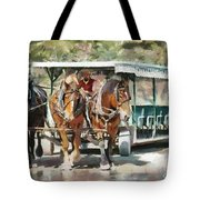 Mackinac Island Transportation - Surrey With The Fringe On Top Tote Bag