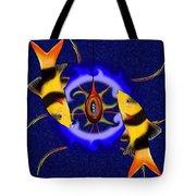 Macrachantis V1 - Colourful Fish Tote Bag