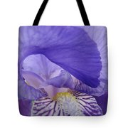 Macro Irises Close Up Purple Iris Flowers Giclee Art Prints Baslee Troutman Tote Bag