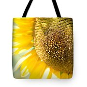 Macro Photography Of Sunflower Tote Bag