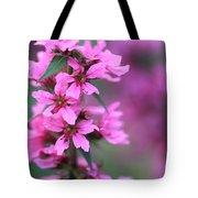 Macro Purple Flower Tote Bag
