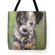 Macy As A Puppy Tote Bag