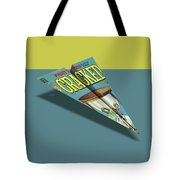 109s Cracked Mad Paper Airplanes Tote Bag