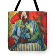 Madame Bear In A Chair Tote Bag