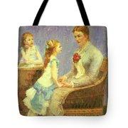 Madame Bouchet Et Ses Filles Tote Bag