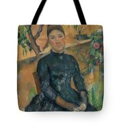 Madame Czanne Hortense Fiquet 18501922 In The Conservatory Tote Bag