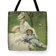 Madame Monet And Her Son Tote Bag