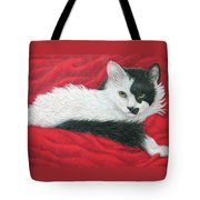 Maddie In Red Tote Bag