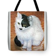 Maddie In Waiting Tote Bag