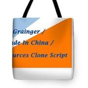 Made In China Clone - Made In China Script Tote Bag