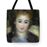 Mademoiselle Henriot Or Young Girl With A Blue Ribbon Tote Bag