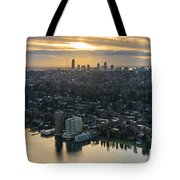 Madison Park And The Seattle Skyline Tote Bag