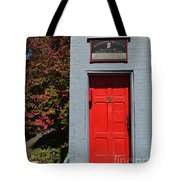 Madison Red Fire House Door Tote Bag