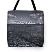 Madison Skyline - Black And White Tote Bag