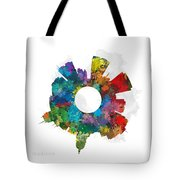 Madison Small World Cityscape Skyline Abstract Tote Bag