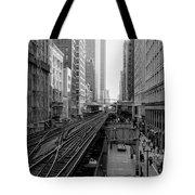 Madison St - Wabash Station - Chicago Loop Tote Bag