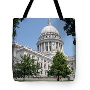 Madison Wi State Capitol Tote Bag by Anita Burgermeister