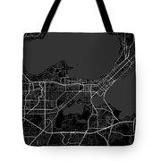 Madison Wisconsin Usa Dark Map Tote Bag