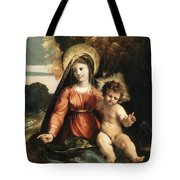 Madonna And Child 1525 Tote Bag