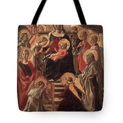 Madonna And Child Enthroned With Saints Fra Filippo Lippi Tote Bag