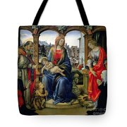 Madonna And Child Tote Bag by Filippino Lippi