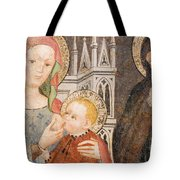 Madonna And Child Fresco, Italy Tote Bag