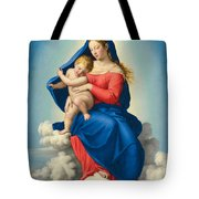 Madonna And Child In Glory Tote Bag