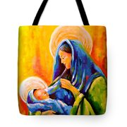 Madonna And Child Painting Tote Bag