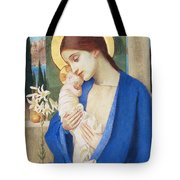 Madonna And Child Tote Bag by Marianne Stokes