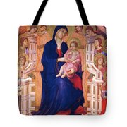 Madonna And Child On A Throne 1311 Tote Bag